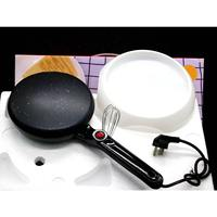 600W Kitchen Electric Griddle Pancake Baking Crepe Maker Pan Pizza Cake Non Stick Machine Home DIY Cooking Tools With EggBeater