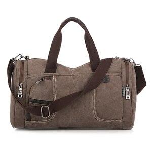 Image 3 - Coreano 2020 novo simples dos homens bolsa casual selvagem grande capacidade saco de lona moda personalidade bolsa de ombro moda bolsa de viagem
