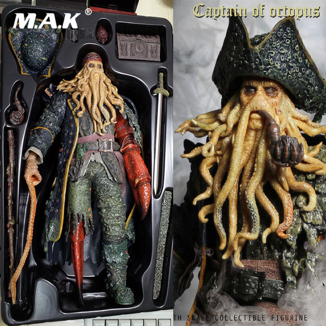 Collectible Full Set Action Figure 1/6 Scale Pirates of the Caribbean Captain of Octopus Davy Jones Model Toys for Fans Gift