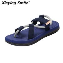 أحذية رجالي جديدة موضة صيف 2019 مناسبة للشاطئ صنادل روما الترفيهية مزودة بمشبك يسمح بمرور الهواء ومناسبة للرجال