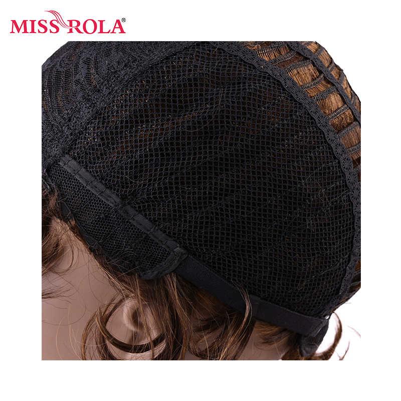 Мисс Рола короткие человеческие волосы парики бразильский Боб парик Волнистые не-парики Remy для черных женщин машинная работа Бесплатная Часть #2 цвета