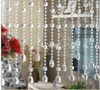 Бесплатная доставка 1 м кристалл Бусины цепи 10 шт./лот Кристалл Бусины дома/окна/двери занавес украшения, аксессуары к осветительным прибора