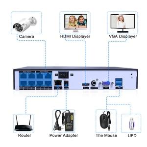 Image 3 - 5MP 1080P 8CH POE NVR CCTV Sesurity kamera POE sistemi açık su geçirmez kiti 48V 1T HDD ONVIF hiseeu