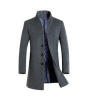 Осенняя и зимняя Мужская Готический Тренч с капюшоном черный Панк Личность плащ халат мужской HARAJUKU шерстяное длинное пальто накидка SWAG пал