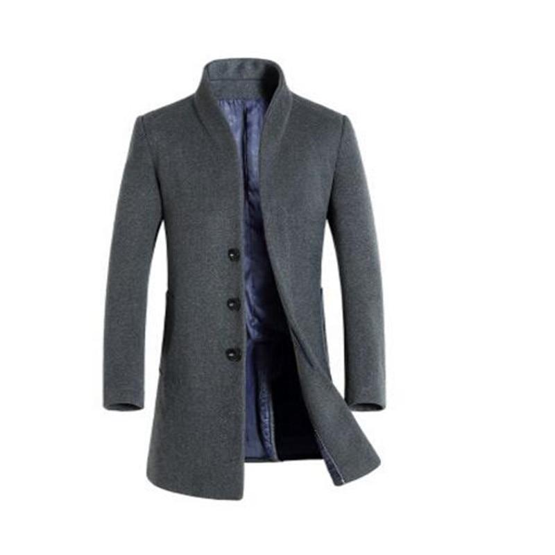 Autumn winter men gothic hooded trench coat black punk personality cloak robe mens harajuku woolen long coat cape swag overcoat