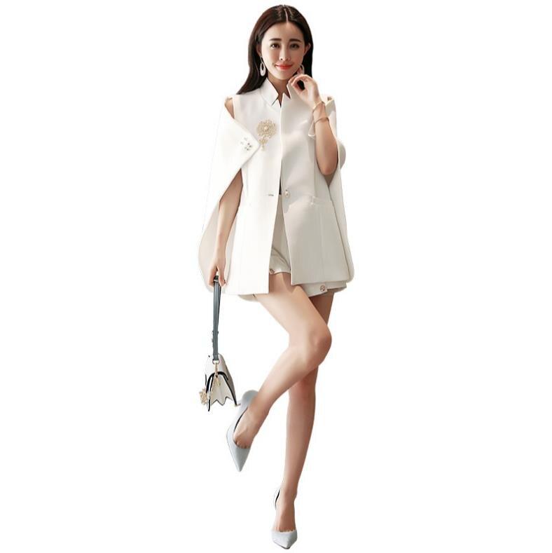 In 2019 Fashion Women Long Sleeve Lapel Ol Cool Jacket Cloak Coat Cape Casual Split Poncho Blazer Suit Superior Quality