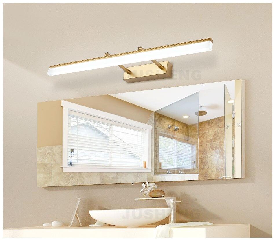 JUSHENG Modern Bathroom LED Wall Lamp Lights with Adjustable Beam ...