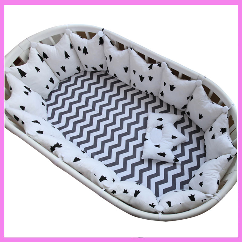 Newborn Thermal Soft Cotton Fleece Baby Crib Activity Bumper Set Playpen Fence Soft Warm Wool Newborn Infant Playpen Bumpers