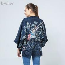 Kimono Cardigan Bat Printed