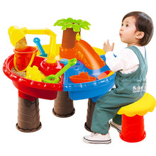 22Pcs/set Kids Plastic Sand Pit Set Beach Sand Table Water Play Toy 9826 - Color Random(China)