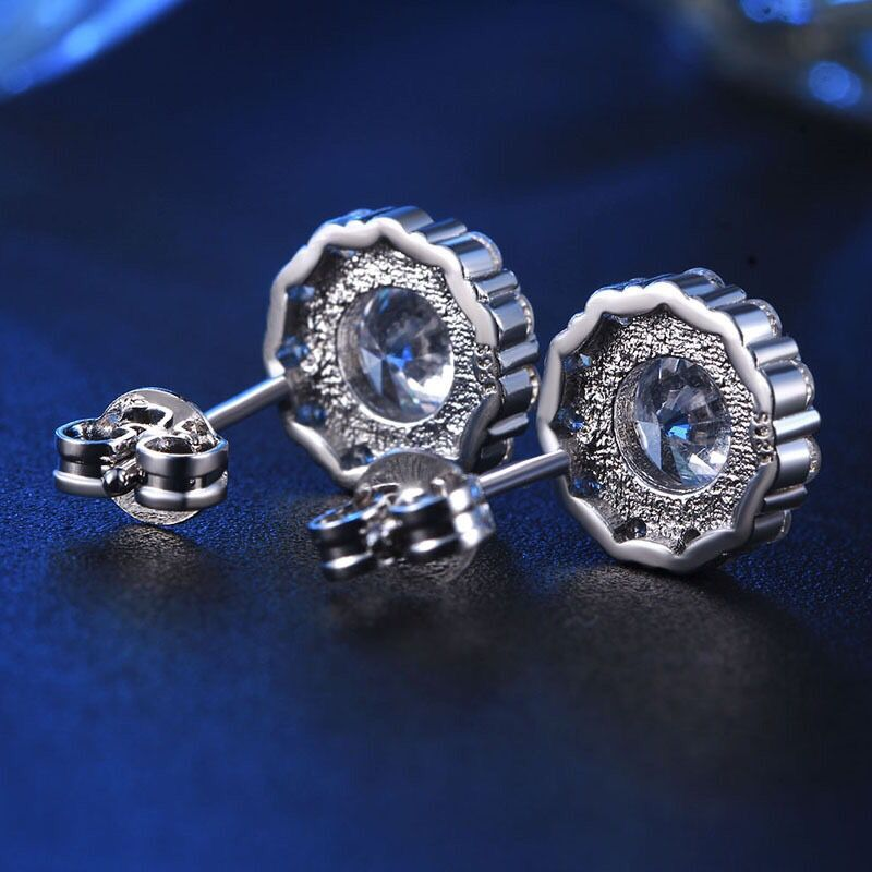 f8a7d0d7c MxGxFam Round White CZ Stud Earrings for Women AAA+ Cubic Zircon Fashion  Jewelry White Gold Color Lover Gifts-in Stud Earrings from Jewelry &  Accessories on ...