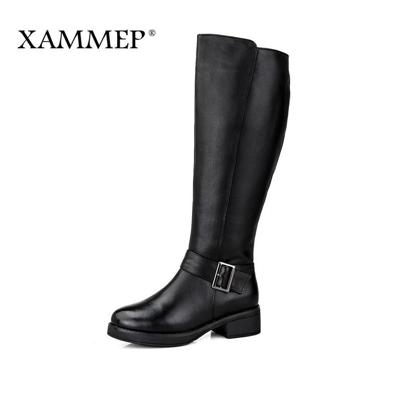 Großhandel Frauen Winterschuhe Marke Frauen Schuhe Mittlere Waden Stiefel Plüsch Und Wolle Hohe Qualität Frauen Winterstiefel Plus Große Größe Xammep