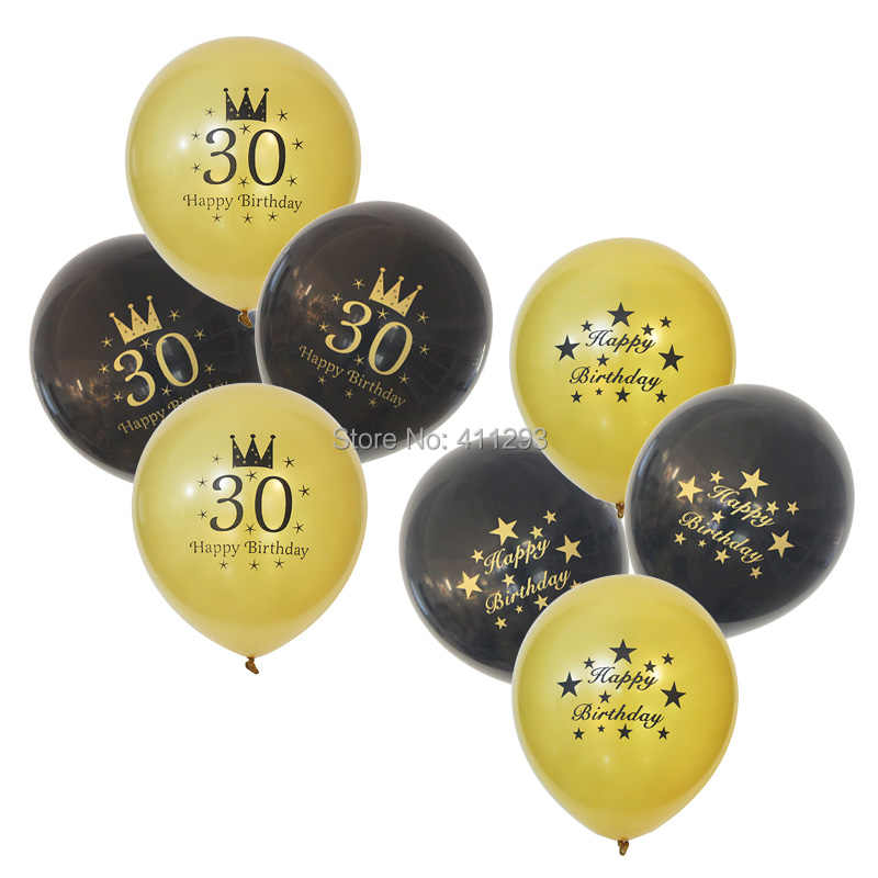 12pcs 30th 40th 50th 60th 70th 80th Birthday Balloon Party Ballons 30 40 50 60