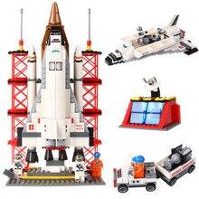 560 шт. Ausini 25086 Шаттл Запуск Базы Ausini Строительные Блоки Образовательные Кирпичи Горячие Игрушки Совместим С Legoe