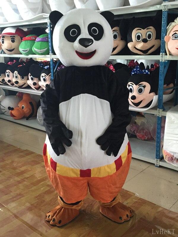 Costume de mascotte de panda de Kungfu de taille adulte