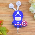 Mini Cartoon Superhero 3.5mm Retractable Earphone headphone For Samsung Xiaomi HTC MP3 MP4 Music Headphones for iphone
