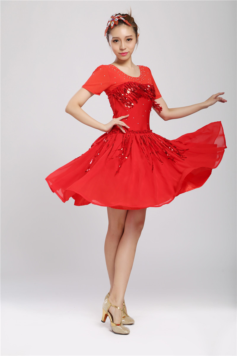 The new women Latin Dance Dresses For Tassel style Cha Cha/Rumba/Samba/Ballroom/Tango Dance Clothing girl Dance Costume