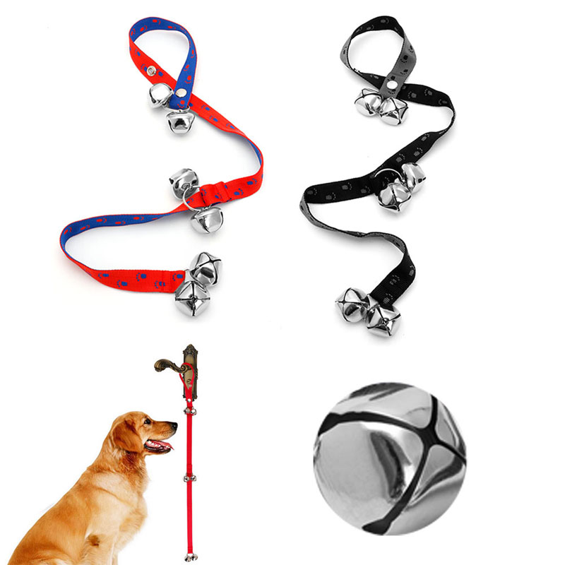 Nylon Adjustable Dog Housetraining Doorbell Train Dogs Potty Training Extra Loud Bells Guide Rope
