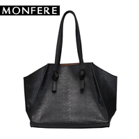 MONFERE large tote shoulder bags for women designer handbags high quality snake animal print big color bucket shopping bag set