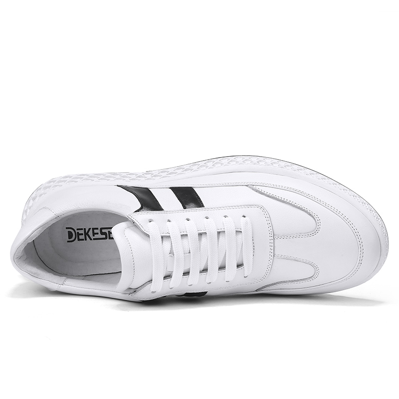 Couro Sapatilhas white Moda Masculina Homens Krasovki Salto Flats White Up Lace Tenis Sapatos Masculino Genuíno Black Plana Dos 2018 Black Casuais rRrxBq