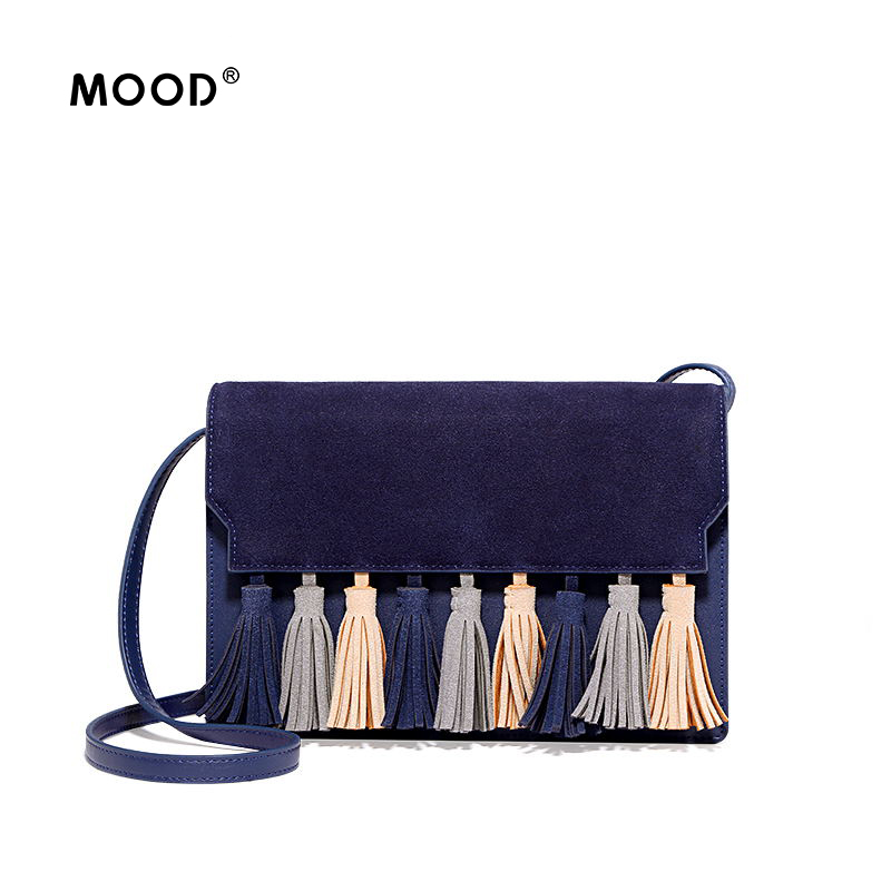 MOOD women bag suede bag tassel small square bag High quality shoulder inclined shoulder bag contracted fashion Free shipping free shipping 2014 boom bag leisure contracted one shoulder bag chain canvas bag page 2
