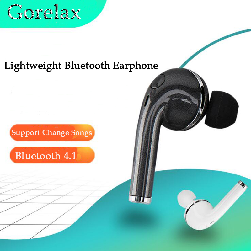 Gorelax Wireless Mini Bluetooth Headset Earphone 4.1 Stereo Mono Hands Free Earphones With Mic for Music, Car,Sports,Phones