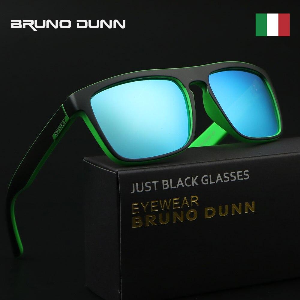 Bruno Dunn Sunglasses Men Women Polarized 2018 sport Luxury Brand Designer Coating Sun Glasses for female Male with box case