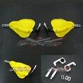 Yellow ATV Handguards Motorcycle Motocross Dirtbike MX Handguards Handlebar Brush Guards For Suzuki KTM CRF KLF DRZ DR Dorsoduro