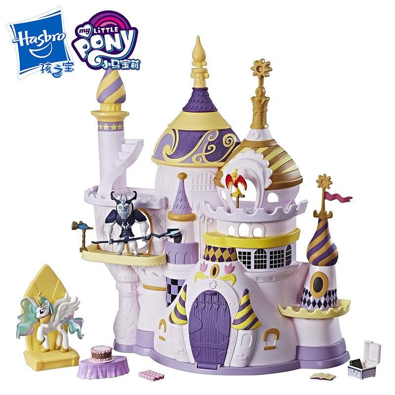 Hasbro figurines jouets d'action mon petit poney jouets trésors Collections château de Canterlot cosmique princesse fille maison jouets cadeau