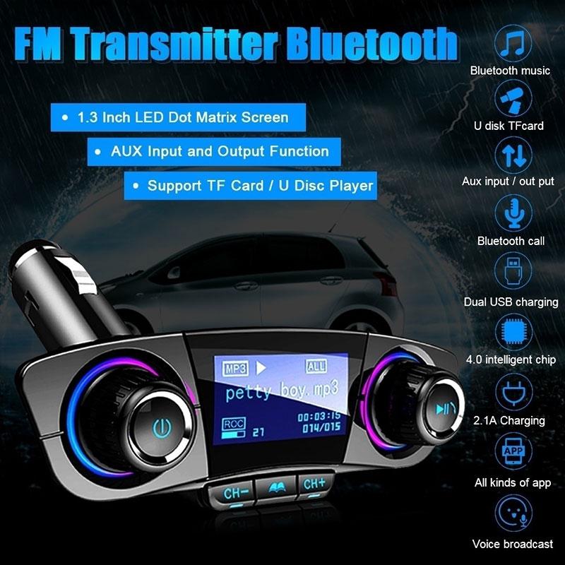 Vehemo беспроводной bluetooth-приемник радио адаптер fm-передатчик адаптер зарядное устройство для автомобиля универсальное Обнаружение напряжения громкой связи