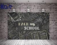 Kate 5x7ft Blackboard School Photo Back To School Day Background Cartoon Stick Stationery Kid Backdrops For Photo Studio