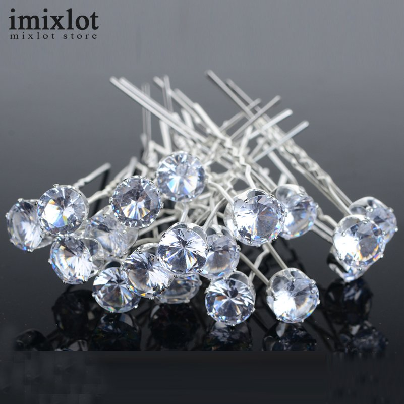 d3b9b35686 Aliexpress.com : Buy Imixlot 20 Pcs/Pack Round Crystal Rhinestone Hair Pins  Wedding Bridal Accessories Hair Clip For Women Jewelry Wholesale from ...