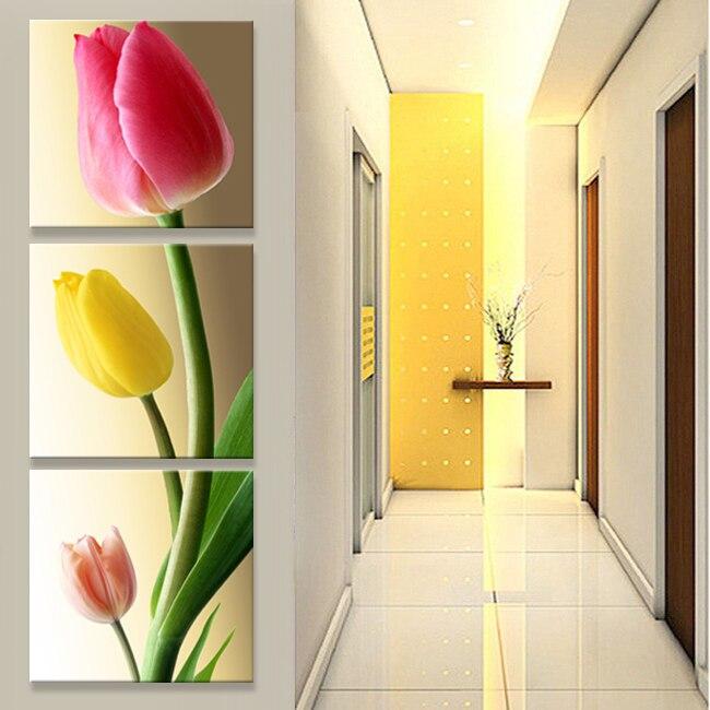 இ2017 Real Art Flowers Corridor Canvas Oil Painting Living Room ...