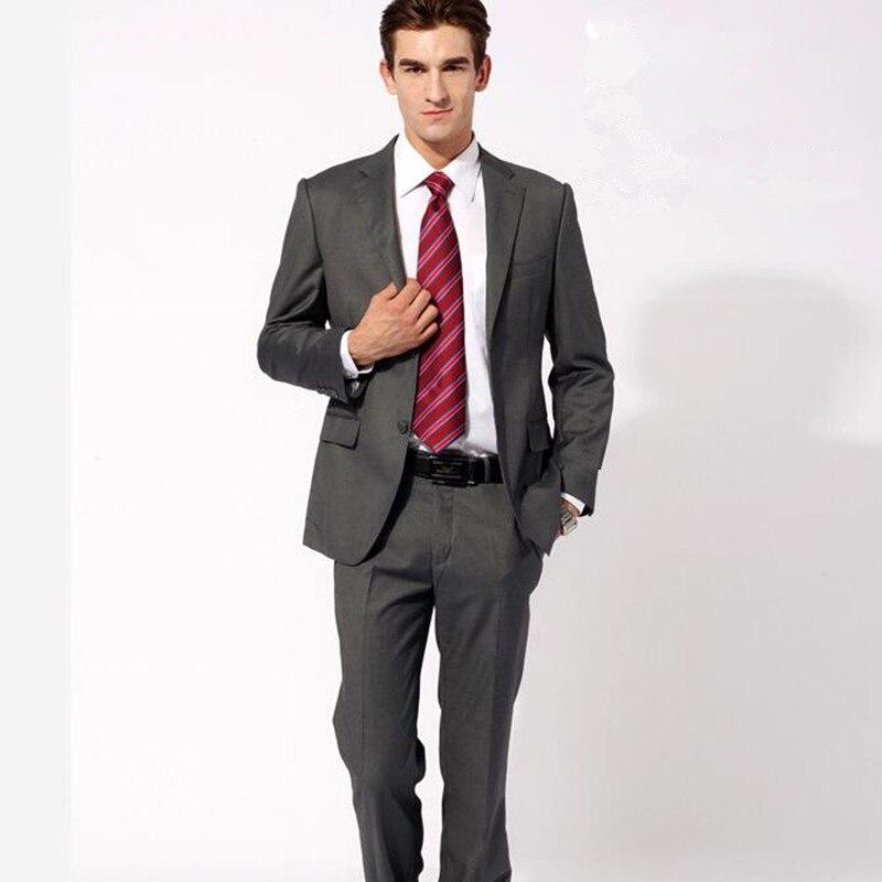 Herrenanzüge, grau männer anzüge wolle gemischt männer hochzeit ...
