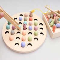 Jouets éducatifs Montessori maths jouet pince perles en bois magnétique poisson Puzzle jeu multi-fonction jouets pour enfants