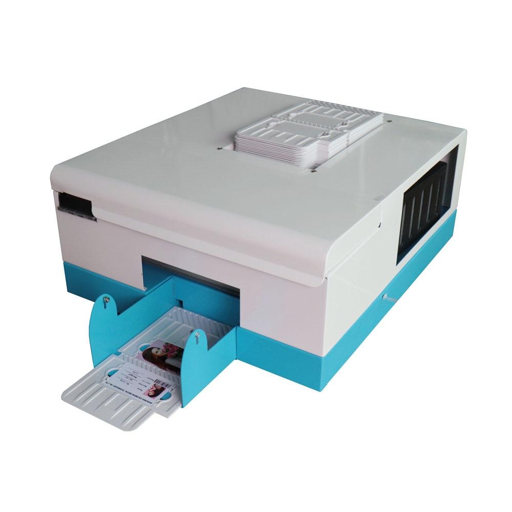 2018 New Updated Inkjet Card printer 4 sizes 86*54 ,70*100, 80*110, 102*148 pvc card printer upgrade automatic pvc id card printer for 4 size inkjet card printing machine 86 54 name card printer 70 100 pvc card printer