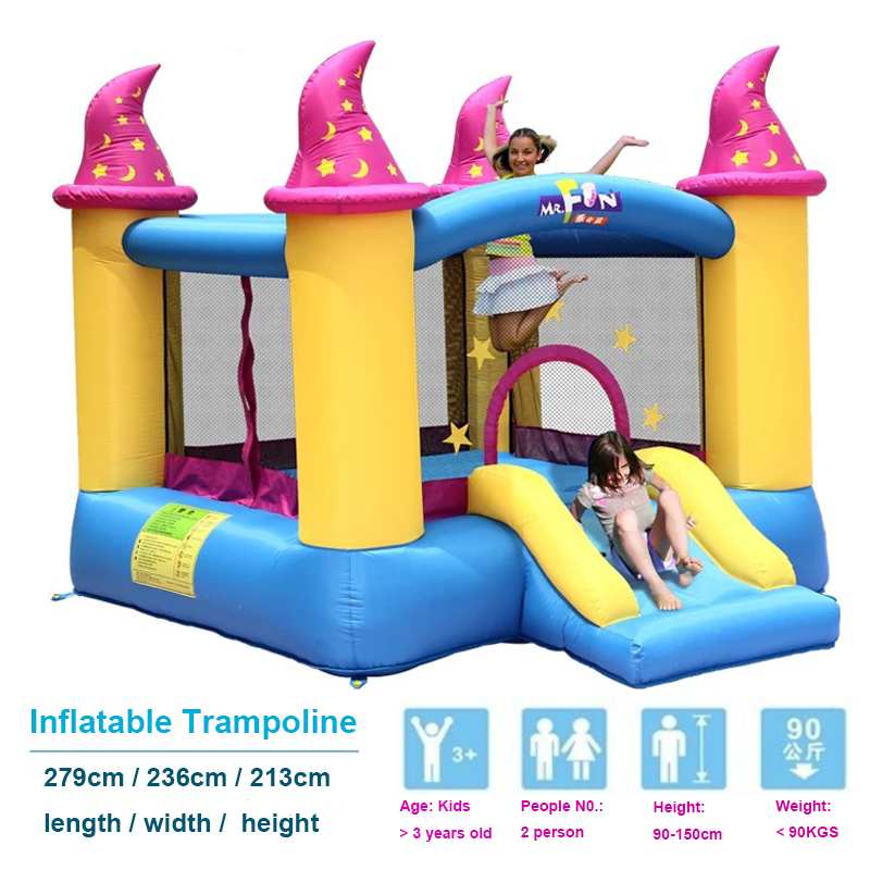 HTB1jw vPXXXXXXYapXXq6xXFXXXh - Mr. Fun Kids Bouncy Castle Inflatable Trampoline Slide with Blower