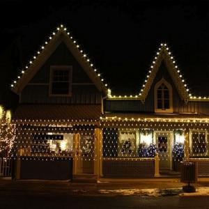 Image 5 - Linha de iluminação 96led, 1.5m x 1.5m, linha de malha, luz de tornozelo, guirlanda de natal, casamento, festa escolha 4 cores de decoração