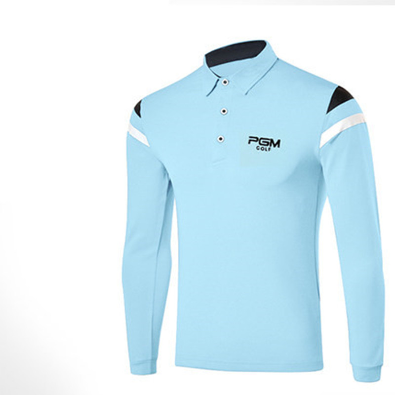 springtime new style! PGM golf suit mens sports ball big men with long sleeves T-shirt comfortable smooth and soft feel delicat