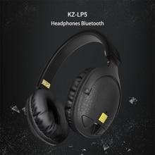 100% Original KZ LP5 Wireless Bluetooth Earphone Apt-X Wired stereo Bass HIFI DJ High-qualit Headset Portable Foldable Headphone