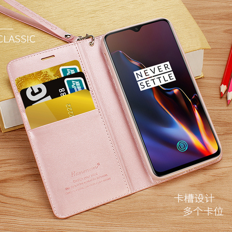info for 54a3e af52e US $8.44 35% OFF|Hanman Original Luxury Wallet Diary Folio Case for OnePlus  6T 6 Oneplus5 Plain Leather Case Magnetic Flip Cover Coque Capa-in Wallet  ...