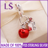 LS Real 925 Silver The Dwarfs Book Dangle Charm,Mixed Enamel Beads Fit Original Bracelets Pulseira Encantos Beads DIY Jewelry