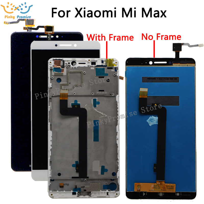 6.44 Screen For XIAOMI Mi Max LCD Display Touch Screen mimax with Frame for Xiaomi Mi Max LCD Display Replacement