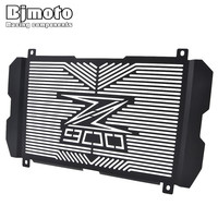 New z900 2018 For Kawasaki Z 900 Z900 2017 2018 Black Motorcycle Radiator Guard Cover Protector logo