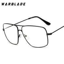 d65f330fa8f 2018 Lightweight and Elegant Retro Classic Metal Frame Glasses Myopia Eyeglasses  Women Men Square Clear Glasses Eyewear WarBLade