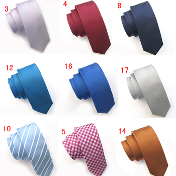 2 solid color tie male casual 18