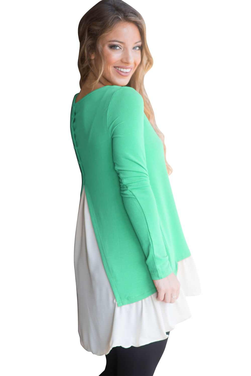 韓国 Kpop 本物の正規フルポリエステル綿のパッチワーク O ネックキャンバス 2019 新スタイルレディースラウンドネックステッチ Tシャツ