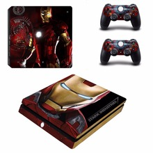 Avengers Iron Man Spiderman PS4 Slim Skin Sticker Decal Vinyl voor Playstation 4 Console en Controller PS4 Slim Skin Sticker