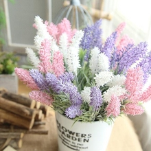 1 pc Plastic Artificial Lavender Flower Romantic Provence Flowers Fake for Wedding Party and Decor