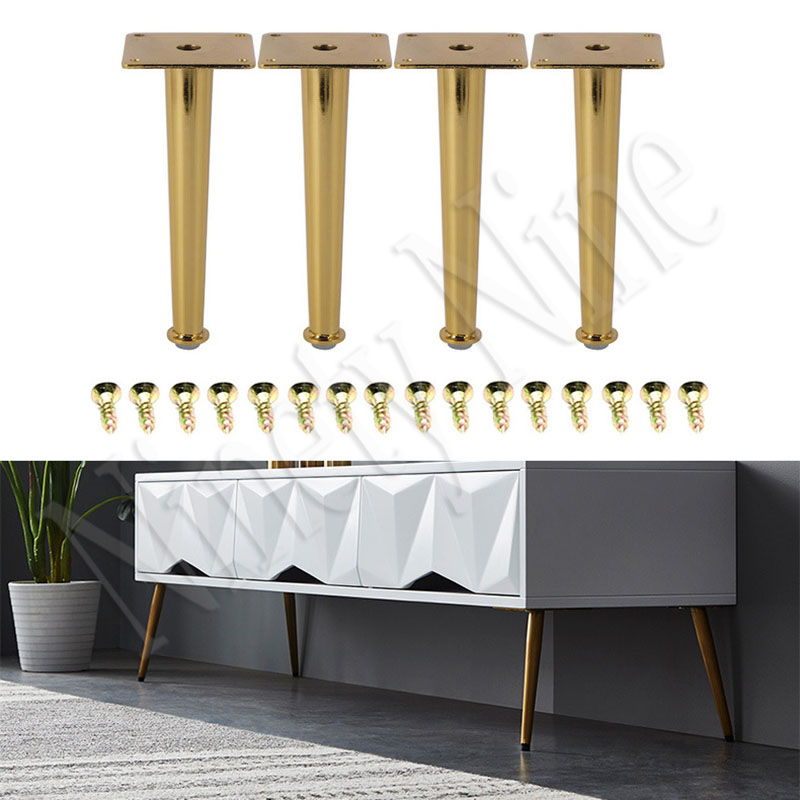 4Pcs 30*20*200MM  Gold Bronze Furniture Cabinet Cupboard Metal Legs Table Feet  Verified Lab Test Supports + 1600 Pounds